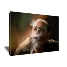 James Gandolfini The Sopranos TONY SOPRANO Cigar Poster CANVAS Art Painting