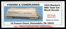LMH Funaro F&C 1012  BORDEN'S BUTTERDISH MILK TANK CAR   Black w/ EXPRESS TRUCKS