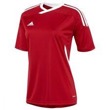 Adidas Para Mujer Tiro 11 Camiseta De Fútbol-Varios Tamaños-Rojo-Nuevo