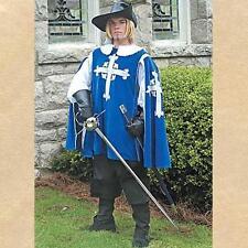 MUSKETEER Renaissance Era Mens Blue TABBARD and White SHIRT ENSEMBLE COSTUME SET