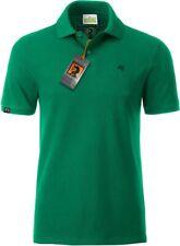 JAN 8010 Bio Baumwolle Basic Polo Shirt Männer Organic COMPANIEER Grün Irish C .