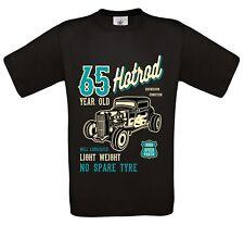 drôle 65 ans hot rod Rétro Voiture personnalisée T-Shirt Hommes haut 65th