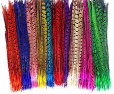 """Faisán plumas de cola de color de 10"""" - 12"""" Artes Manualidades Sombrero Traje Boda volar UK"""