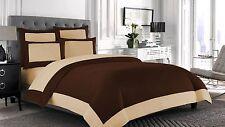 Full Size Designer Reversible Duvet cover set 100% Egyptian Cotton Choose Color