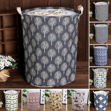 Foldable Baby Kids Toy Cloth Storage Bucket Laundry Basket Organizer Bag Hamper