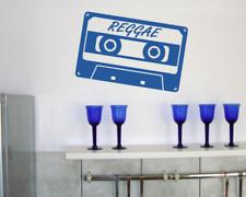 'Reggae' Wandtattoo Cassette Wandaufkleber  25 Farben 7 Größen