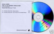 LIARS It Fit When I Was A Kid UK 2-trk promo test CD