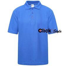 School Uniform Royal Blue Polo T Shirts Kids T Shirt Boys Girls Tee Top Sports