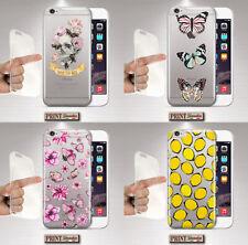 Cover per,Iphone,natura,silicone,TRASPARENTE,fiori,farfalle,sottile,api,limoni