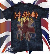 New Def Leppard Band Photo Tie Dye Retro Men's Vintage Classic T-Shirt