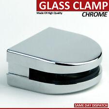 HEAVY DUTY CHROME STAINLESS STEEL GLASS CLAMP FOR BALUSTRADE HANDRAIL BRACKET