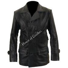 NEW MEN'S Dr Who TV Series Eccleston Black Cowhide Winter Leather Jacket/Coat