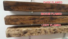 "Rustic Solid Oak Beam Mantel Piece Fire Place Surrounds 4"" x 5"" x  4ft"