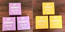 Anthropologie SOT Bar Soap Set of 3 Purple Yellow 4oz 113g Each Lilac Sunflower
