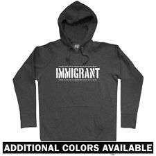 Immigrant Hoodie - Politics La Migra Immigration Border Patrol INS - Men S-3XL