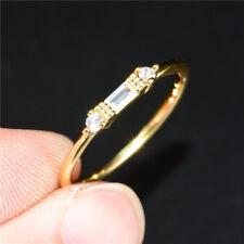 Elegant Women's Wedding Rings 18k Yellow Gold Filled White Sapphire Size6-10