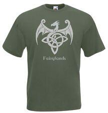 T-Shirt Manica Corta Celtic J698 Fairyland festival Drago Nodo Celtico
