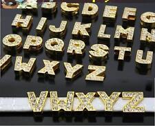 Pedrería (V) las letras A-Z Gold 12 mm beads perla abc collar Perro Gato bolso