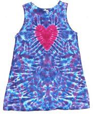 Girls Tie Dye Heart Tank DRESS sizes 2T-12 grateful dead hippie love art