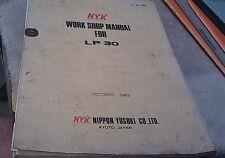 1982 NYK Pallet Lifter LP30 Workshop Manual