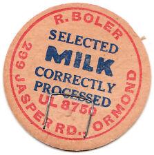 Very Old Carboard Milk Bottle Top