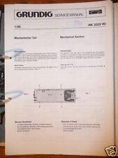 Service Manual Grundig WKC 2020 Autoradio,ORIGINAL