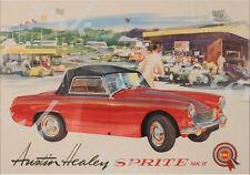 Vintage Austin Healy Sprite Advertisement Poster A3/A4 Print