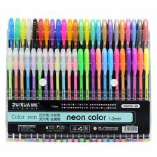 Colored Gel Pens Set Glitter Paint School Drawing Class Art Markers 48 Colors