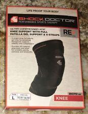 SHOCK DOCTOR Ultra Compression Knit Knee Support Patella Gel & X-Straps NEW M L
