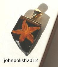 Young Mar Estrella ámbar del Báltico COLGANTE CON PLATA 925