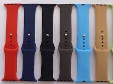 Silicio/Goma-Correa Iwatch Varios Colores - 38 mm y 42 Mm-vendedor de Reino Unido