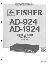 Fisher Original Service Manual für AD 924 1924