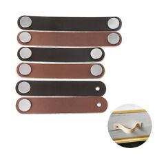 Leather Handmade Cabinet Door Knobs Drawer Pulls Door Handles Cupboard Kitchen