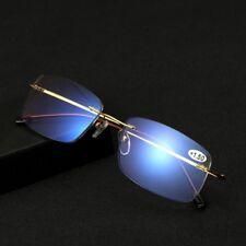 Fashion Progressive Reading Glasses Rimless Multi Focus Reader Frame +1.0~+3.0