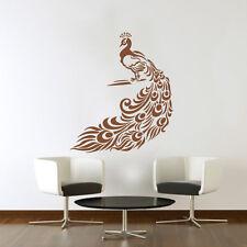 Large Peacock Art Vinyl Wall Sticker, DIY Home Decor Wall Decal - HIGH QUALITY