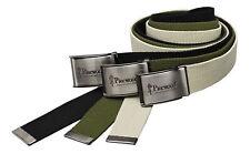 Pinewood Canvas Gürtel Olivgrün, Schwarz, Beige 120cm x 4cm für Frauen & Männer