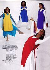 NWT Sidetie praise Tunic 4 colors v neck Liturgical Praisewear top 71730 sq. hem