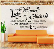 Wandtattoo Wandaufkleber Glaube an Wunder Liebe Glück Wohnzimmer Spruch 555