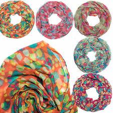 Schal Loopschal Halstuch Tuch Dots Tupfen Muster bunte Farben Farbenfroh Herbst