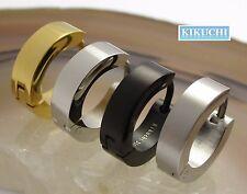 Herren Ohrringe Titan Stäbchen Edelstahl Creolen 4mm/13,4mmØ silber schwarz gold