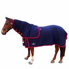 Unicorn Navy Blue W/ Red Bindings Merino Wool Horse Rug size 4'9-6'9