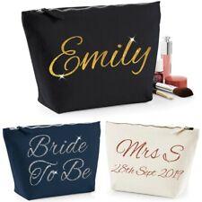 Personalised Glitter Make Up Wash Bag any Name Gift Wedding Kids Adults School