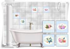 Bathroom Tile Decals EBay - Nostalgie fliesen küche