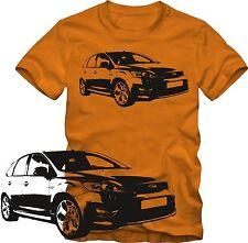 T-Shirt  Ford Focus ST Tuning T-Shirt   Retro Style S/W Grafik DTG Ford  T-Shirt