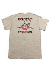 Trident Dive Team Angry Shark T-shirt - Scuba Diving - Gray