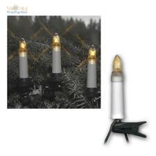 LED Kerzenkette outdoor Lichterkette Weihnachten Beleuchtung 16/25 Topkerzen E10