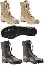 Black / Desert Tan GI Type Military Speedlace Jungle Boot / Sizes 1-15R / 5-13W