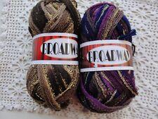 Knitting Fever/Euro Broadway Ruffling Ribbon Yarn-Choose Color-New-Discontinued