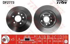 TRW Bremssatz 2 Bremsscheiben Hinterachse 286mm Für OPEL VECTRA CHEVROLET DF2773
