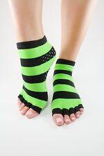 Toezies The Original 1/2 Toe Socks for Yoga/Pilates Green Apple